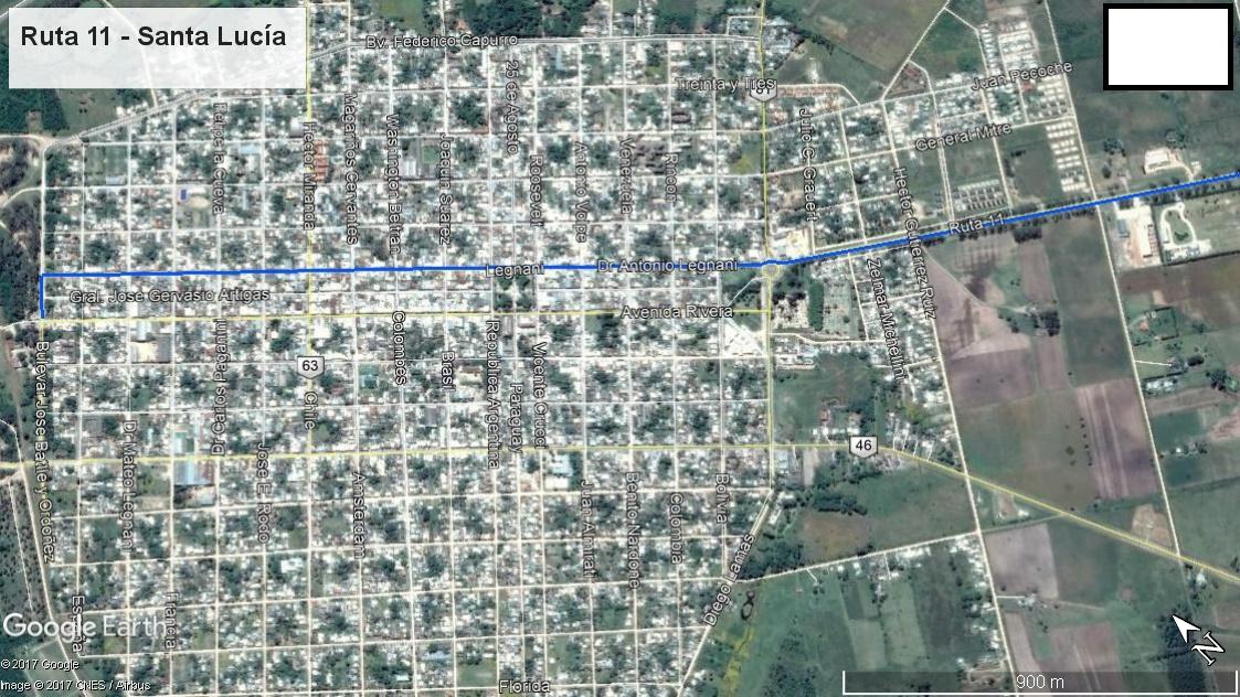 Z1 - Recorrido Parte 13 (Ruta 11 - Santa Lucía)