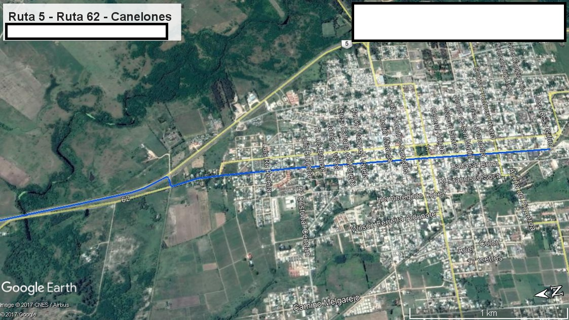 Z1 - Recorrido Canelones por Paso Pache - Parte 4 (Ruta 5 - Ruta 62 - Canelones)
