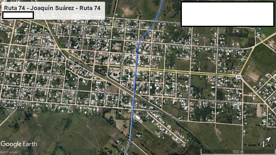 Z1 - Recorrido Parte 9 (Ruta 74 - Joaquín Suárez - Ruta 74)