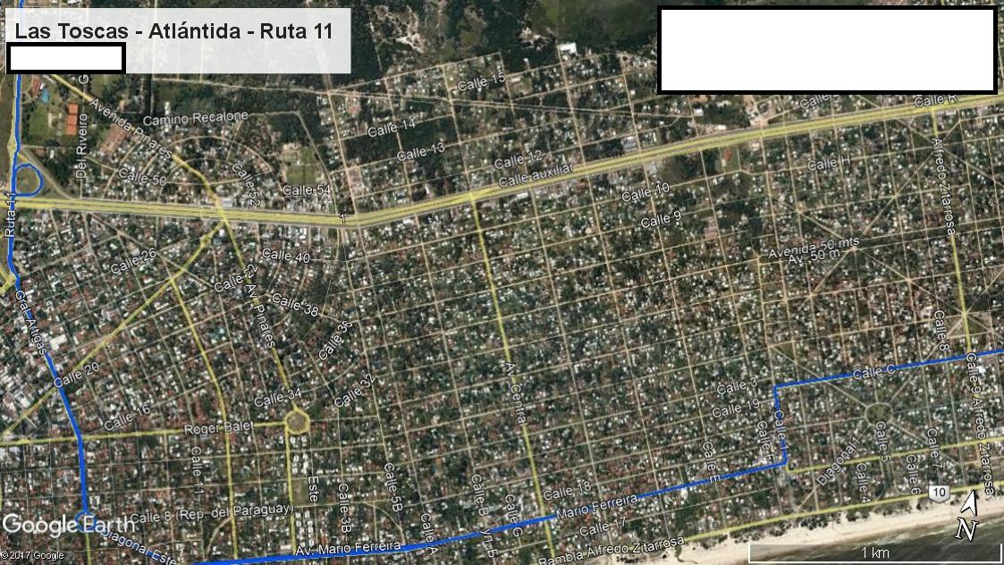 Z2 - Recorrido Parte 4 (Las Toscas - Atlántida - Ruta 11)