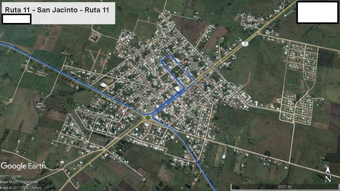 Z2 - Recorrido Parte 6 (Ruta 11 - San Jacinto - Ruta 11)