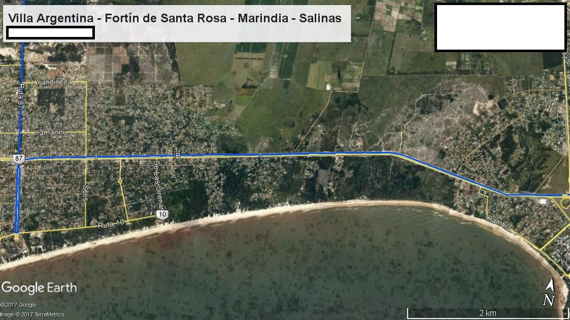 Z1 - Recorrido Parte 5 (Villa Argentina - Fortín de Santa Rosa - Marindia - Salinas)