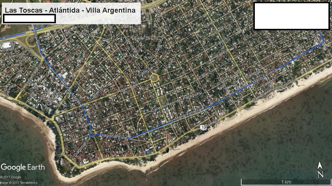 Z1 - Recorrido Parte 4 (Las Toscas - Atlántida - Villa Argentina)