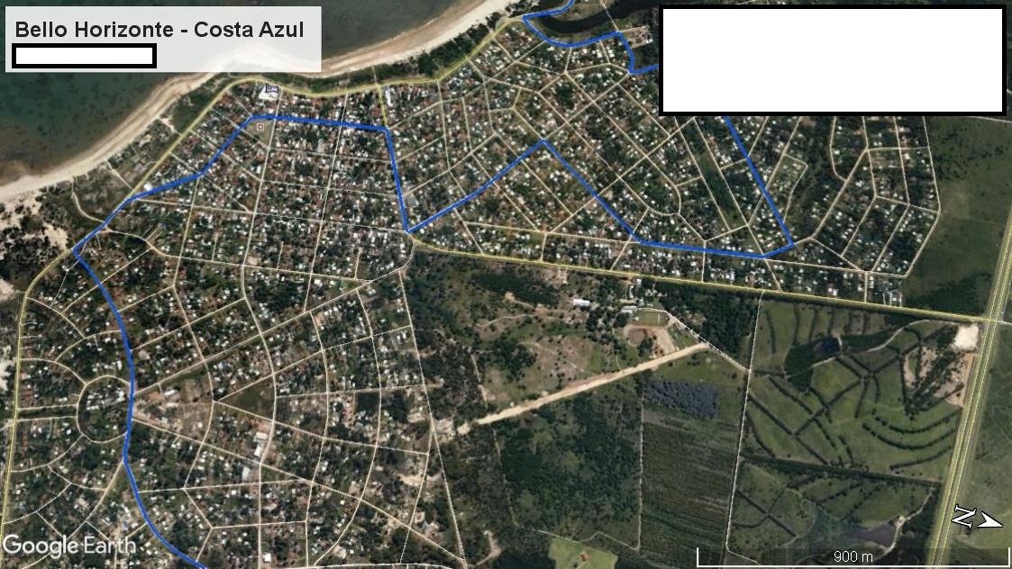 Z1 - Recorrido Parte 1 (Bello Horizonte - Costa Azul)
