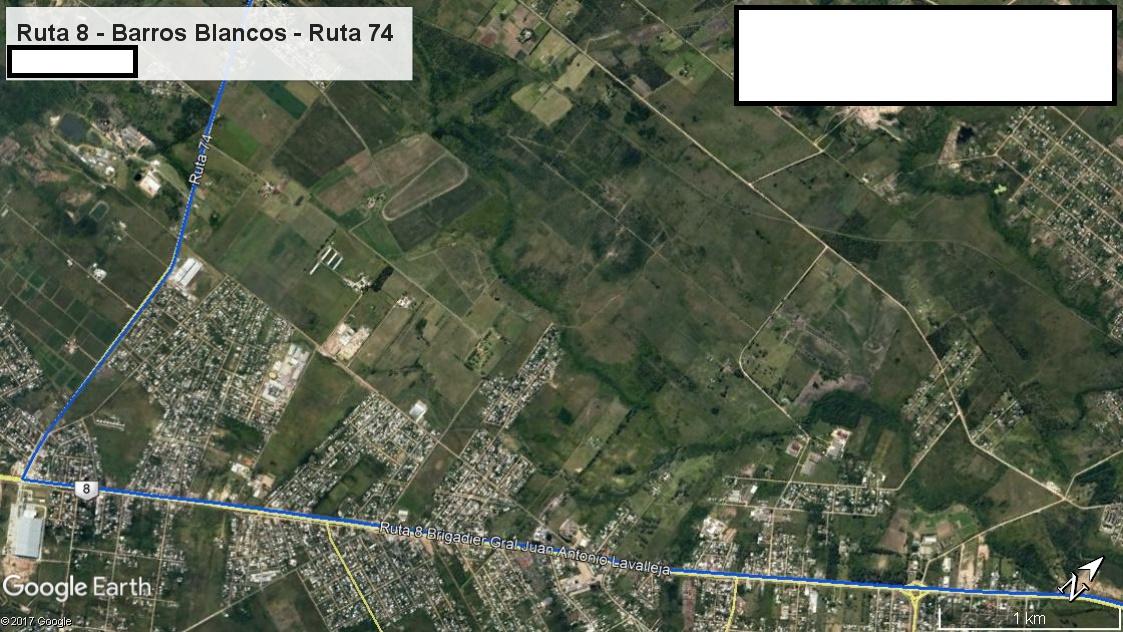 Z1 - Recorrido Parte 8 (Ruta 8 - Barros Blancos - Ruta 74)