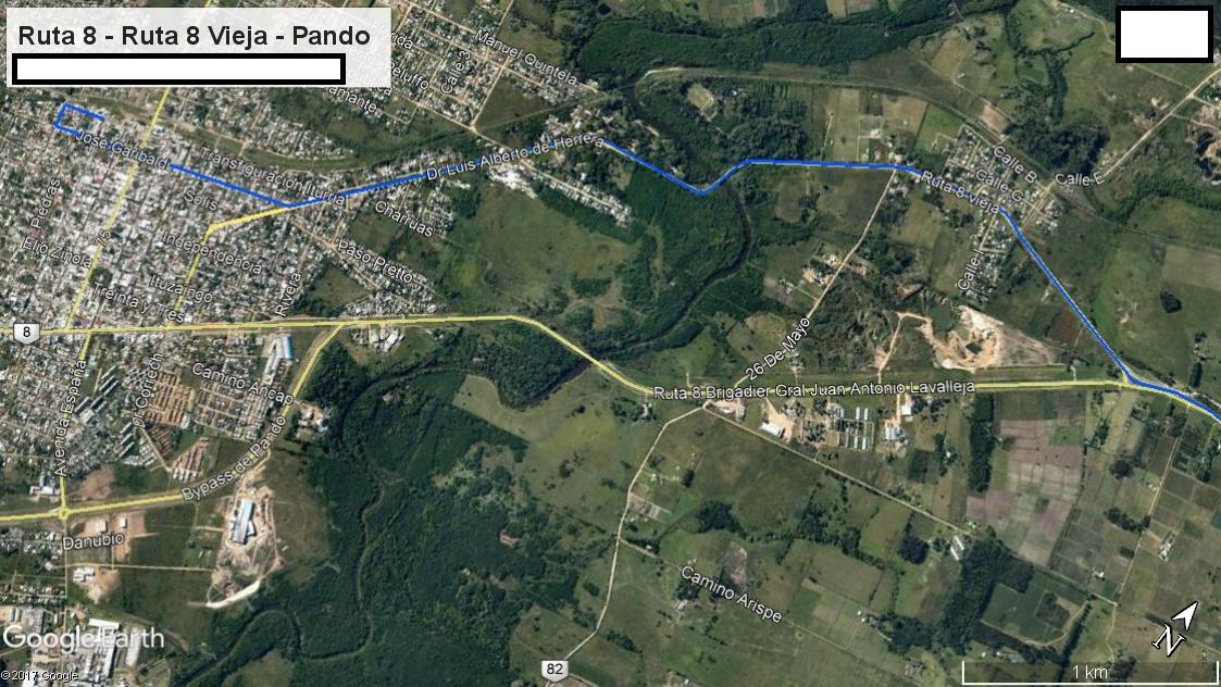 Z1 - Recorrido Parte 6.1 (Ingreso a Pando desde el Este - Parte 2 (Ruta 8 - Ruta 8 Vieja - Pando)