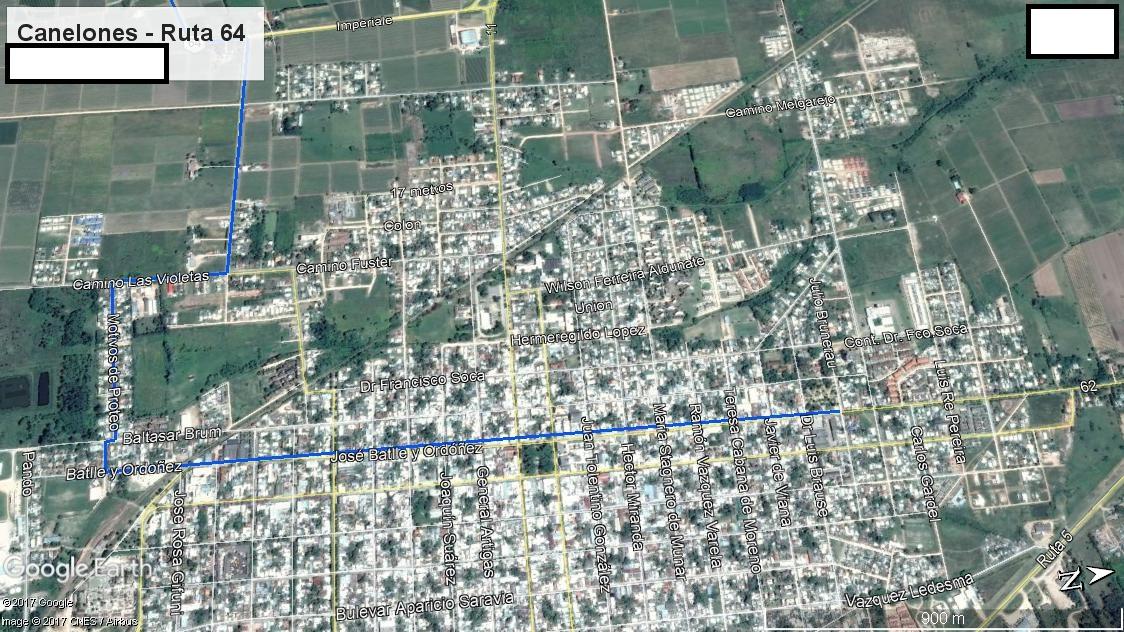 Z3 - Recorrido Aguas Corrientes por Costa Hermosa - Parte 1 (Canelones - Ruta 46)