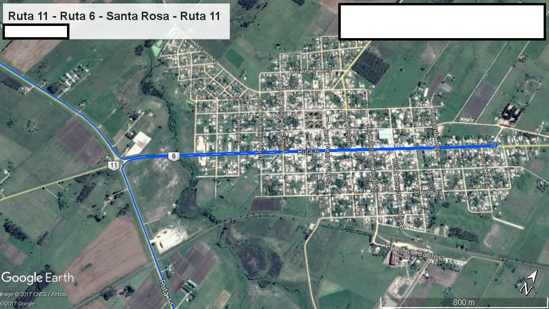 Z2 - Recorrido Parte 7 (Ruta 11 - Ruta 6 - Santa Rosa - Ruta 11)
