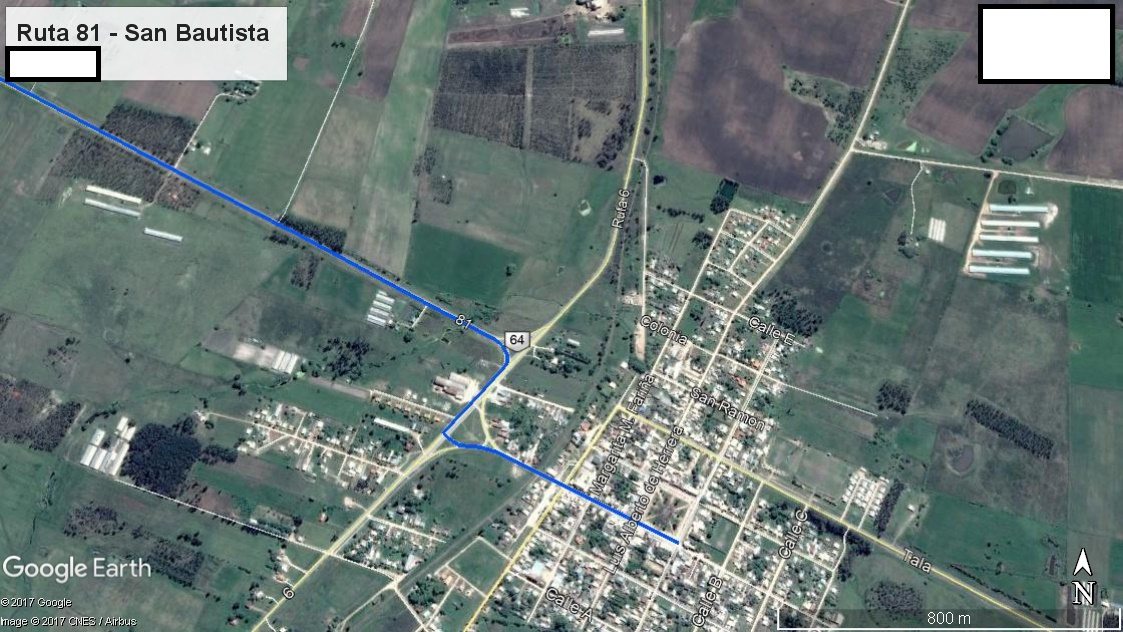 Z4 - Recorrido Parte 6 (Ruta 81 - San Bautista)