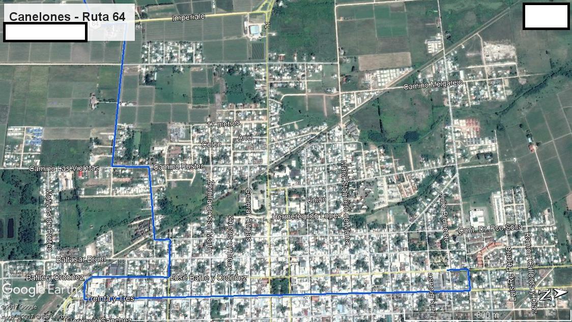 Z3 - Recorrido Cerrillos por Ruta 46 - Parte 3 (Ruta 64 - Canelones)