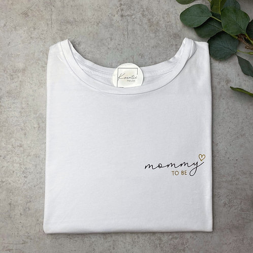 "T-Shirt ""mommy to be"" Mehrfarbig Klein"