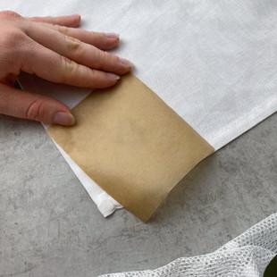 Backpapier auf Motiv legen