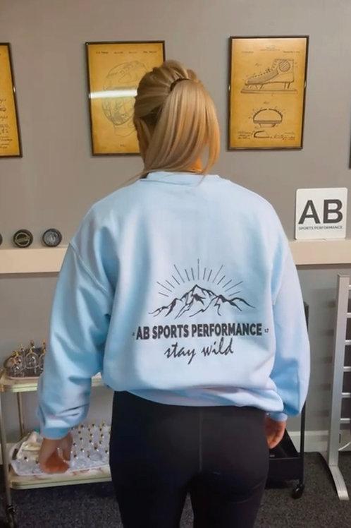 Baby Blue Stay Wild Sweatshirt