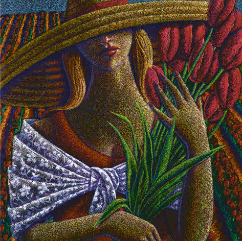 Woman w/Red Tulip