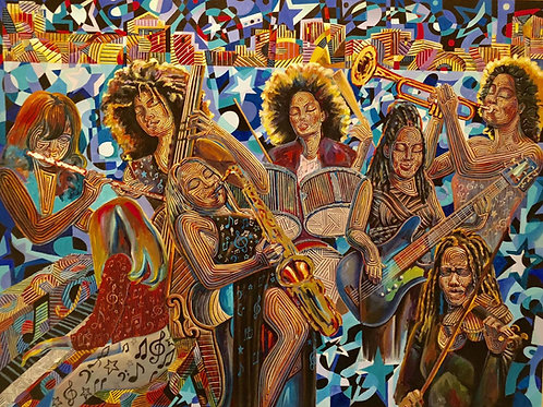 Shining Stars...the Ladies! (30x40)