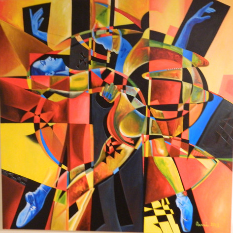 Energy That Expresses Itself Through Dance - 60x60