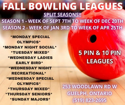 MONDAY SPECIAL OLYMPICS MONDAY NIGHT SOCIAL TUESDAY MIXED WEDNESDAY LADIES EARLY BIRD WEDN