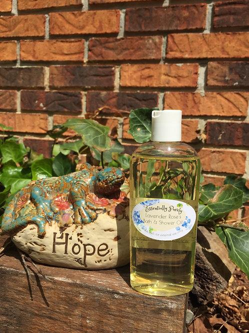 Silver Rose and Lavender Bath & Shower Oil