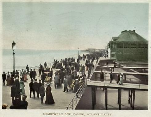 Atlantic City Boardwalk, 1900