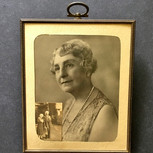 Brass Desk Picture Frame with Photographs