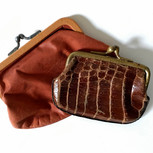 Two Leather Clutch Coin Purses