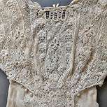 Edwardian Embroidered Lace Gown-Bodice Detail
