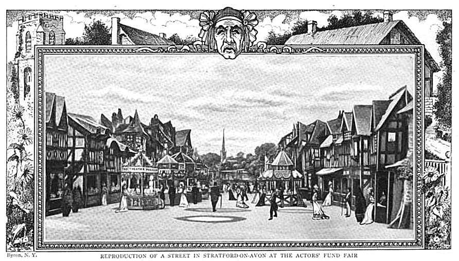 Actor's Fund Fair Stratford-on-Avon Set, 1907