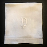 Two Linen Damask Hemstitch Hand Towels