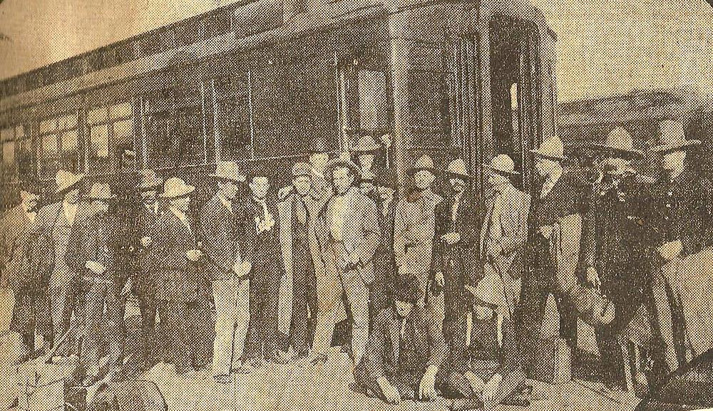 Race Riders at Train Depot