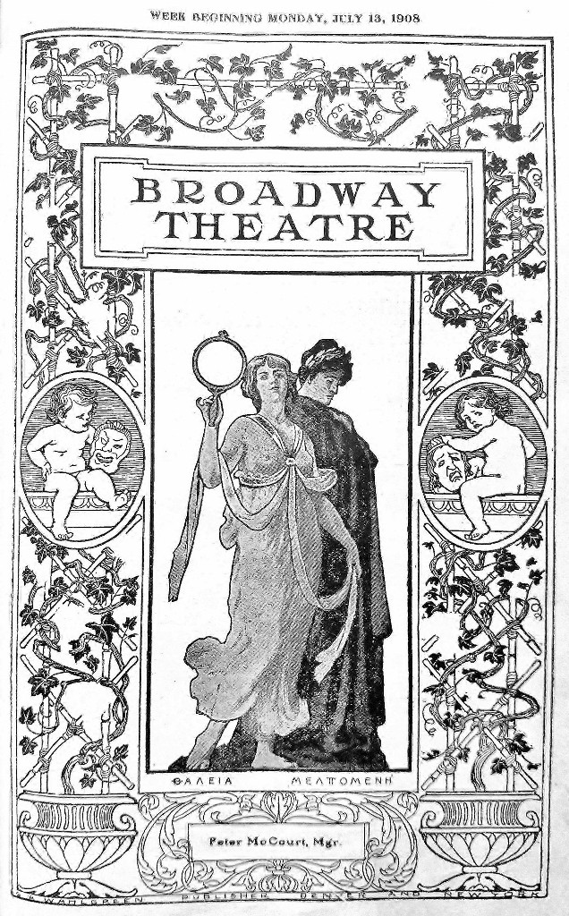 Broadway Theatre Program Cover, 13 Jul 1908