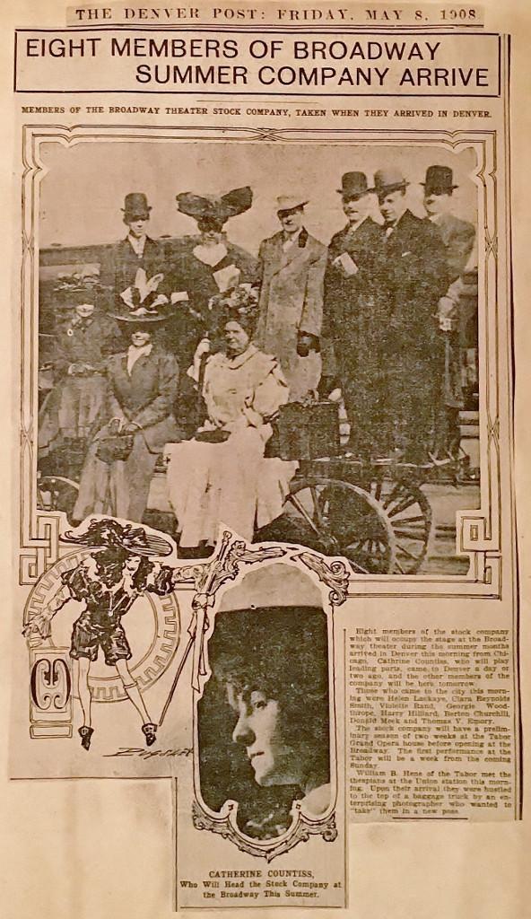 Summer Stock Company Arrives in Denver, 1908