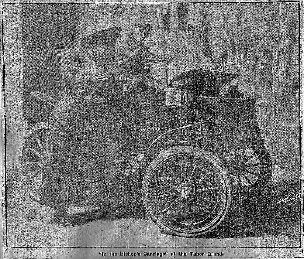 """Scene from """"In the Bishop's Carriage"""" Denver, 1908"""