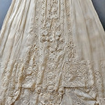 Edwardian Embroidered Lace Gown-Skirt Detail