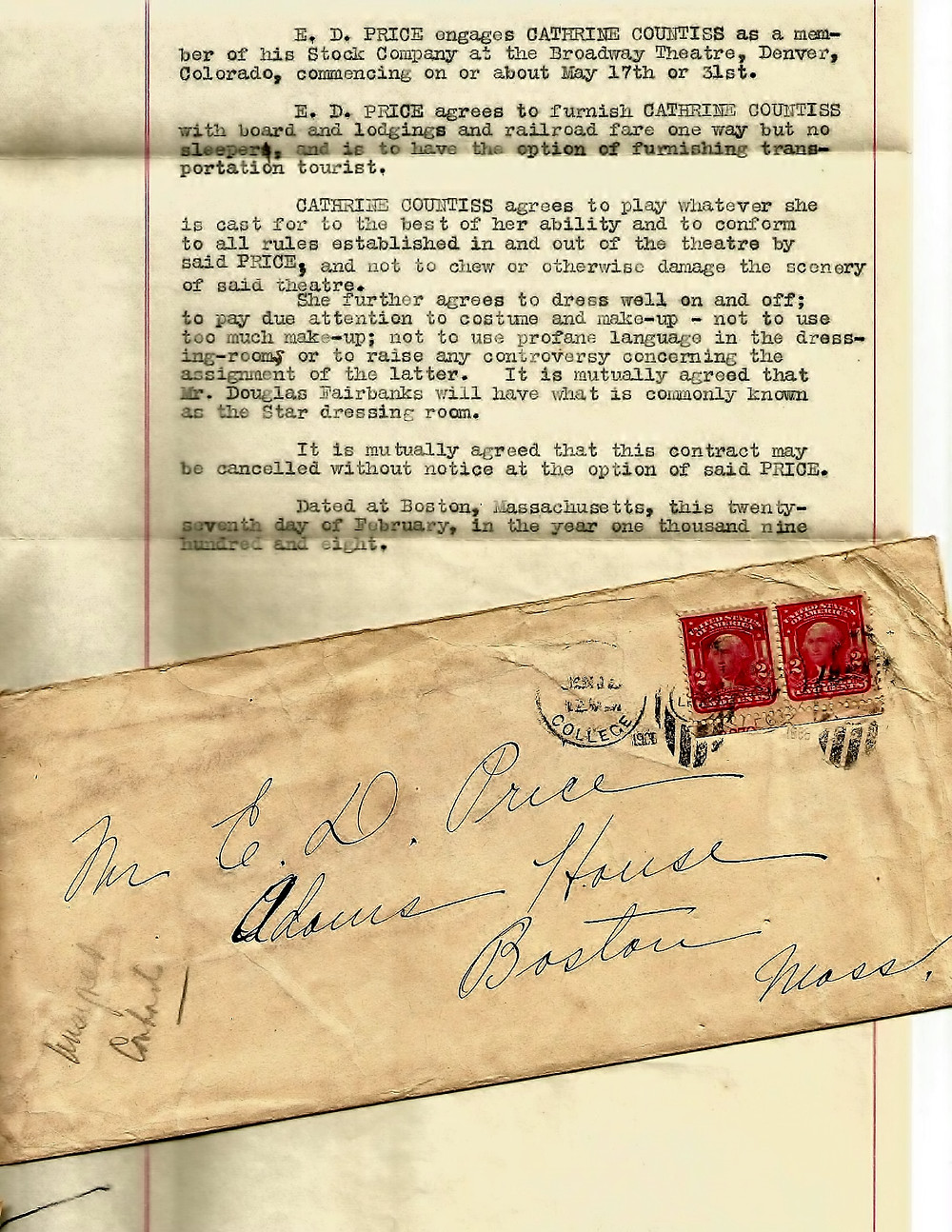 Unsigned Contract-27 Feb 1908