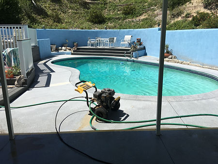 before painting the pool