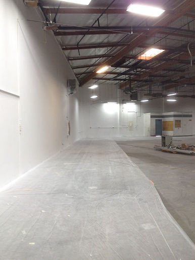 Painting interior commercial building