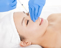 Woman Is Doing Cosmetic Surgery Injectio
