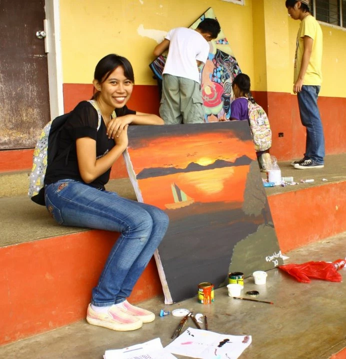 This was way back in 2010, the first time I organised a University-Wide Art Competition called ART WAR. This painting is by Jann Ray, Charmaine and Noreen, the champions for the Painting Category.