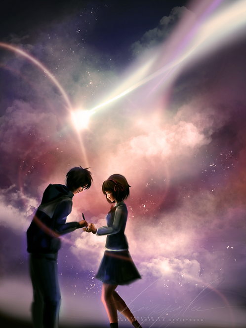 COMET SKY (YOUR NAME FANART)