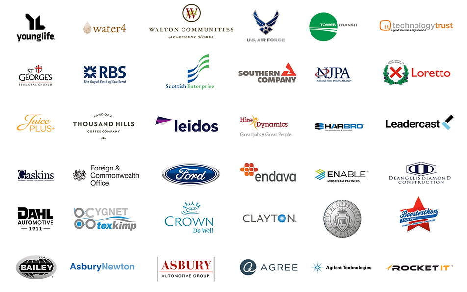 Companies Jeremie has worked with.