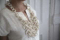 ANDREA MIRANDA SALAS | adornment objects | chest mail hand built porcelain jewelry  | made in Brooklyn, NYC