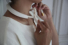 ANDREA MIRANDA SALAS | adornment objects | collar cast porcelain jewelry with cotton rope | made in Brooklyn, NYC