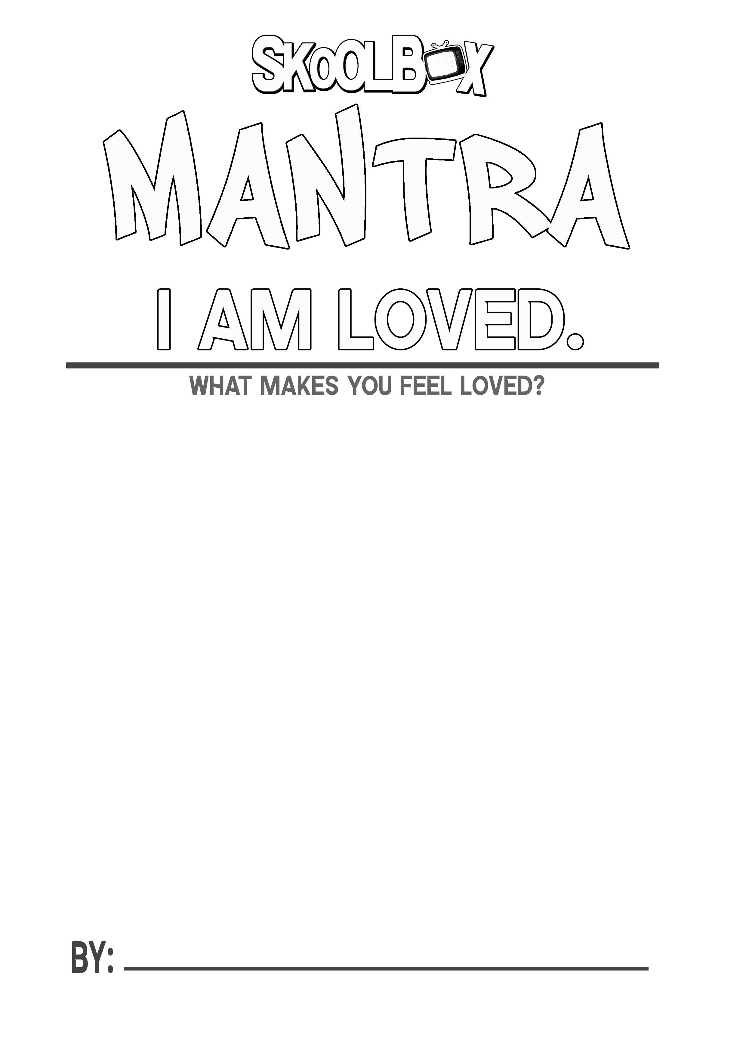 MANTRA 4 I AM LOVED