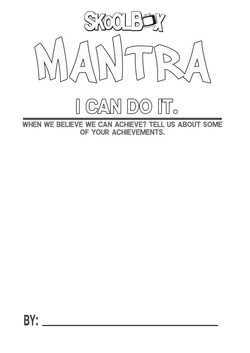 MANTRA 6 I CAN DO IT