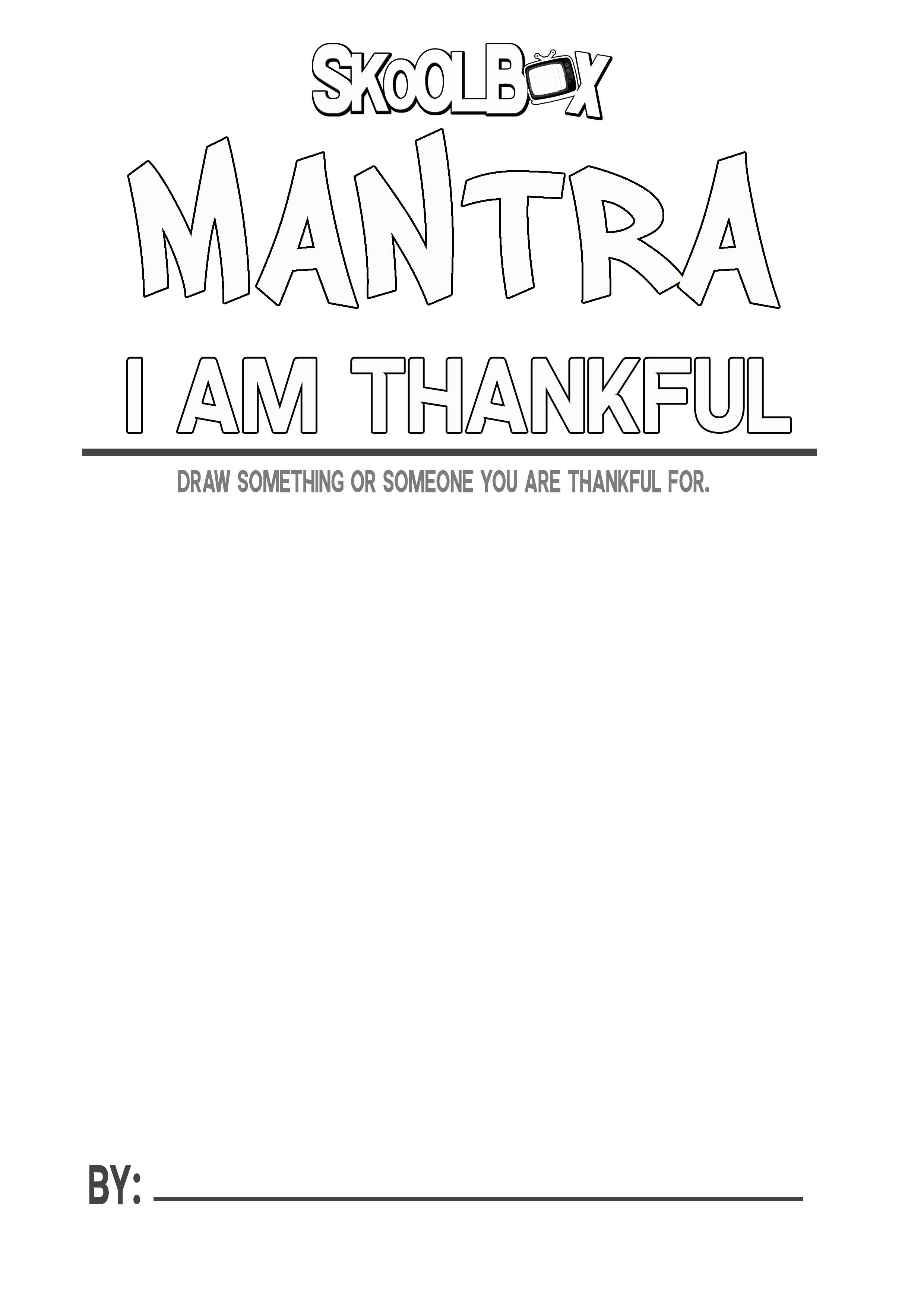 MANTRA 1 THANKFULl