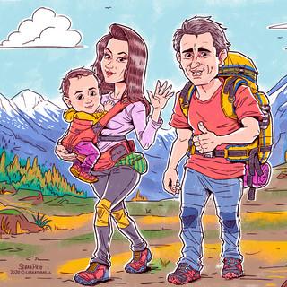 Trekking en familia
