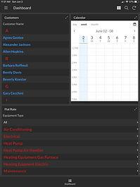 HVAC Service Dashboard dashboard