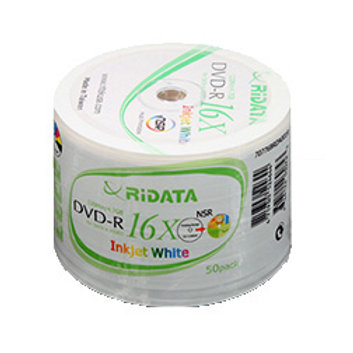 RIDATA INKJET PRINTABLE DVD (50PACK)
