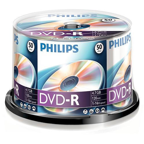 PHILIPS DVD-R GENERAL PURPOSE DISCS 50PK