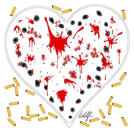 Coeur criblé de balles